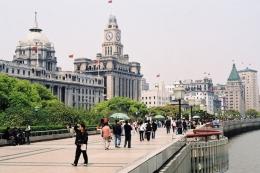 Набережная Вайтань в Шанхае (Китай)