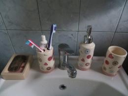 Набор аксессуаров для ванной комнаты 4 предмета «Цветочное настроение» Линь Ли Хоум Продактс