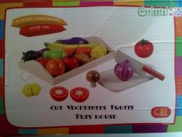 """Набор """"Овощи и фрукты разрезные"""" деревянный Yiwu Jiuxin арт. QQ0399"""