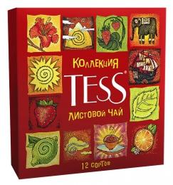 """Коллекция листового чая """"Tess"""" Ассорти 12 сортов в подарочной упаковке"""