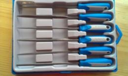 """Набор Зубр """"Эксперт"""" Надфили, двухкомпонентная ручка, насечка 2=бархатная, 100 мм"""
