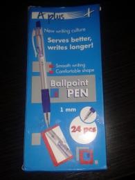 Набор шариковых ручек фирмы A plus модель А 116 синего цвета