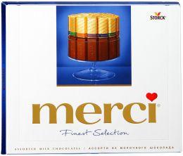 Набор шоколадных конфет Merci Ассорти из молочного шоколада