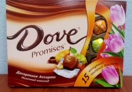 """Набор шоколадный Dove Promises """"Десертное ассорти"""" Молочный шоколад"""