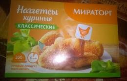 """Наггетсы куриные """"Мираторг"""" классические"""