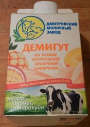 "Напиток Демигут ""Манго, ананас, маракуйя"", Дмитровский молочный завод"