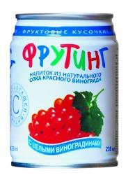 Напиток из натурального сока красного винограда Фрутинг