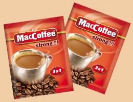 Напиток кофейный растворимый Maccoffee 3 в 1 strong!!!