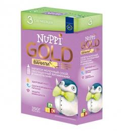 Напиток молочный сухой Nuppi Gold 3 для детей с 12 месяцев со вкусом ванили