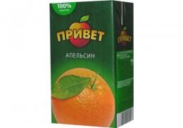 """Напиток сокосодержащий """"Привет"""" апельсиновый для детского питания"""