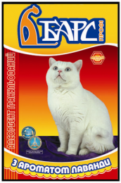 Наполнитель гигиенический для кошачьих туалетов Барс Профи №11 с ароматом лаванды