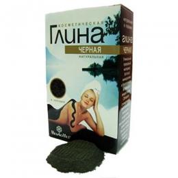 Натуральная черная косметическая глина МедикоМед