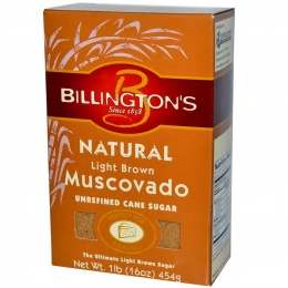Натуральный коричневый сахар Billington's Natural Light Brown Muscovado