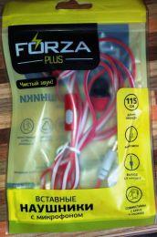 Наушники вставные с микрофоном Forza Plus
