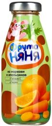 """Нектар """"ФрутоНяня"""" из моркови и апельсинов с мякотью"""