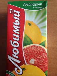 "Нектар ""Любимый"" грейпфрут и лимон"