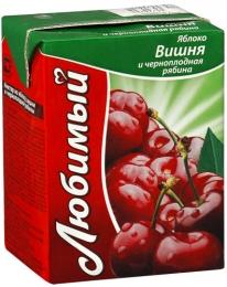 """Нектар """"Любимый"""" яблоко, вишня и черноплодная рябина"""
