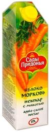 """Нектар """"Сады Придонья"""" яблоко и морковь с мякотью"""