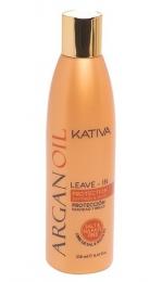Несмываемый оживляющий концентрат для волос с маслом Арганы Kativa Argan Oil