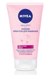 Нежный крем-гель для умывания Nivea Aqua effect для сухой кожи