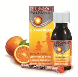 Нурофен Суспензия для детей от жара и боли с 3 месяцев с апельсиновым вкусом
