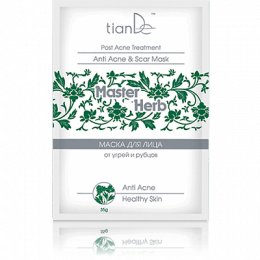 Очищающая маска для лица от угрей и рубцов TianDe Master Herb