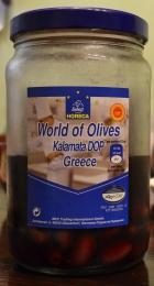 Оливки целые Kalamata DOP с косточкой в рассоле Horeca select World of olives