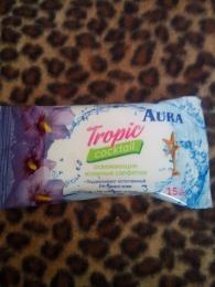 """Освежающие влажные салфетки Tropic cocktail """"Aura"""""""