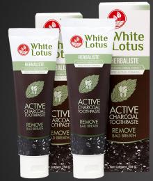 Отбеливающая зубная паста White Lotus Remove Bad Breath