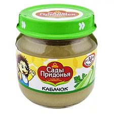 """Овощное пюре """"Сады Придонья"""" кабачок"""