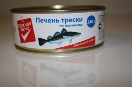 "Печень трески ""Красная цена"" по-мурмански"