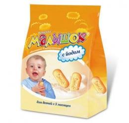 """Детское печенье """"Малышок"""" с йодом для детей с 5 месяцев"""