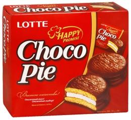 """Печенье прослоённое глазированное Lotte """"Choco Pie"""""""