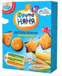 Печенье детское мультизлаковое ФрутоНяня обогащённое витаминами и минеральными веществами