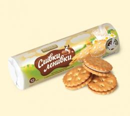 """Печенье сахарное с молочно-кремовой начинкой Roshen """"Сливки Ленивки"""""""