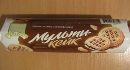 """Печенье сахарное с начинкой какао Roshen """"Мульти-Кейк"""" Молоко"""