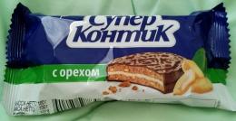 """Печенье-сэндвич Konti """"Супер Контик"""" с орехом"""