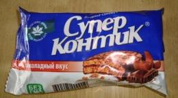 """Печенье-сэндвич Konti """"Супер Контик"""" шоколадный вкус"""