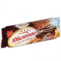 """Печенье """"Юбилейное"""" шоколадное, с глазурью"""