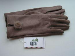 """Перчатки женские замшевые """"Crosh"""" арт. ZaW-003 c04"""