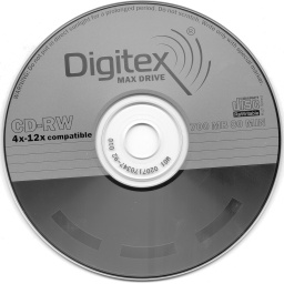 Перезаписываемый диск Digitex CD-RW 4x-12x compatible 700 MB (80min)