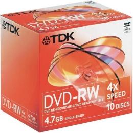 Перезаписываемый диск TDK DVD-RW 4.7Gb 4x