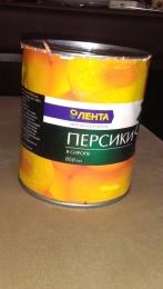 """Персики консервированные в сиропе """"Лента"""""""