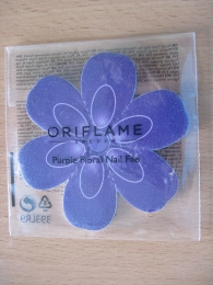 Пилка для ногтей Oriflame Purple Floral Nail File