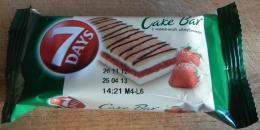 """Пирожное бисквитное 7 Days Cake Bar с начинкой """"Клубника"""""""