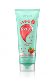Питательный крем для ног Oriflame Feet Up «Клубника и ревень»