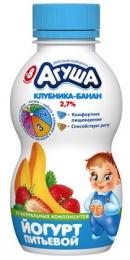"Питьевой йогурт ""Агуша"" клубника-банан 2,7%"