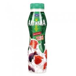Питьевой йогурт «Активиа» инжир