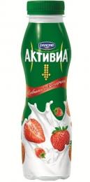 Йогурт питьевой Danone Активиа Клубника и земляника