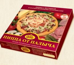 """Пицца """"От Палыча"""" с ветчиной и маринованными огурчиками"""
